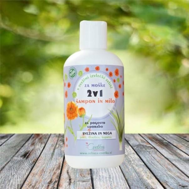 2v1 - šampon in milo