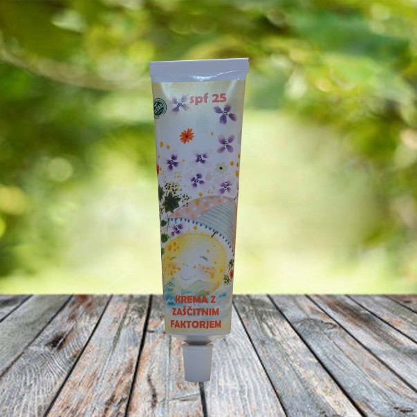Bio krema za sončenje z zaščitnim faktorjem 25 za otroke