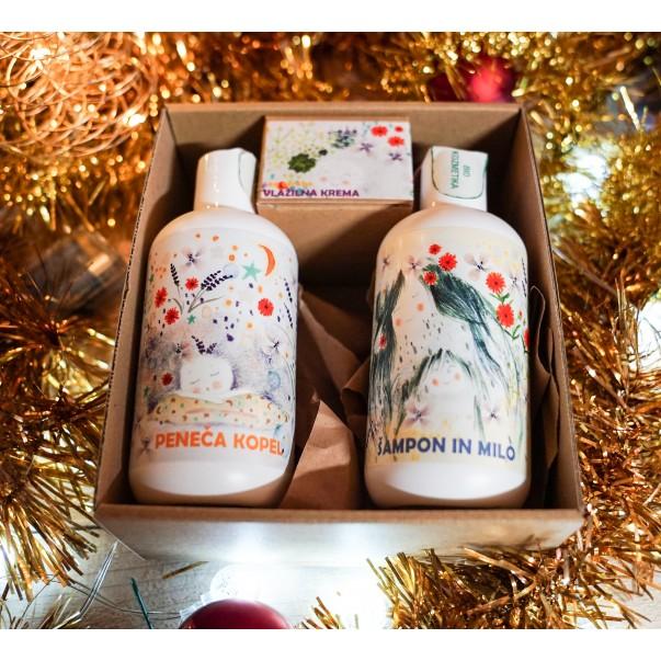 Darilni paket - šampon, peneča kopel in krema za otroke