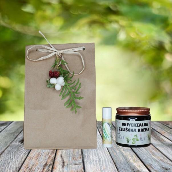 Darilni paket - univerzana krema in mazilo za ustnice