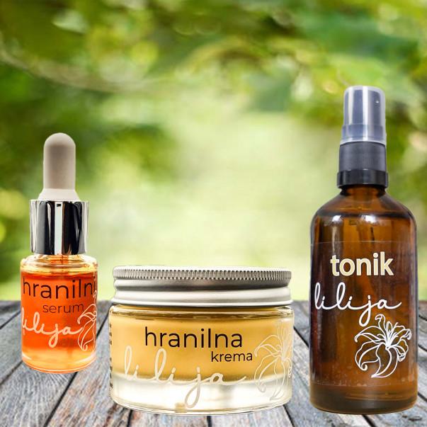 Hranilni serum, krema in tonik lilija - osebna kolekcija Coolmamacita