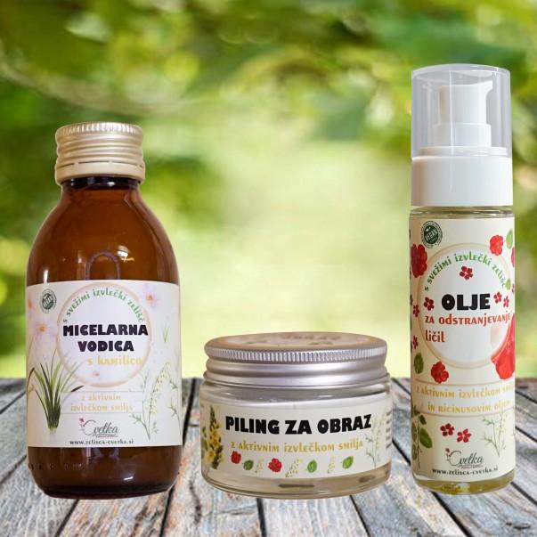 Piling, olje za odstranjevanje ličil in micelarna vodica
