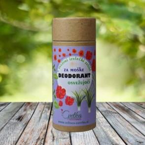 Bio zeliščni deodorant za moške - Osvežujoči