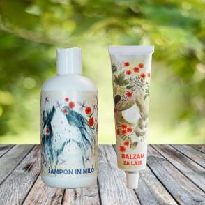 Šampon in balzam za lase za otroke - komplet