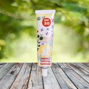 Otroška spf 50 krema za zaščito pred soncem