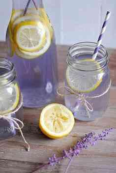Osvežujoča voda s sivko in citronko